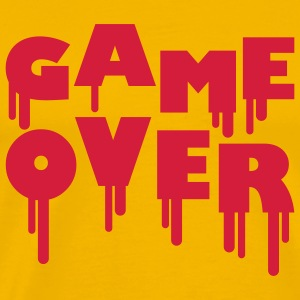 game_over_flow_1c T-shirts - Herre premium T-shirt