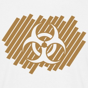 biohazard_on_stripe_pattern_1c T-shirts - Herre-T-shirt