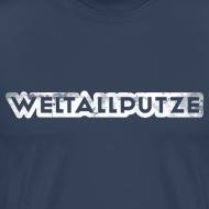 Motiv ~ Weltallputze Grunge weiss XXXL