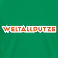 Motiv ~ Weltallputze T-Shirt klassisch (Neorange)
