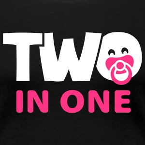Schwanger_Two in one T-Shirts - Frauen Premium T-Shirt