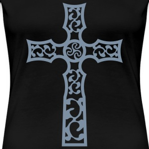 tribal_cross_a_1c T-Shirts - Women's Premium T-Shirt
