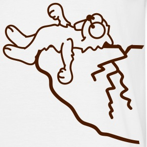 lemming_on_a_breakage_cliff_1c T-shirts - Mannen T-shirt