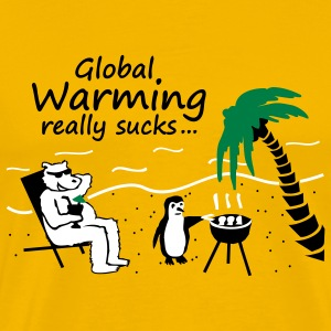 Global Warming really sucks - gelb - Männer Premium T-Shirt