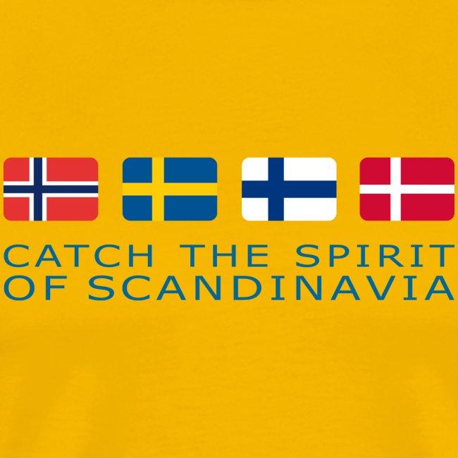 Classic T-Shirt CATCH THE SPIRIT OF SCANDINAVIA blue-lettered