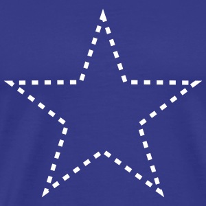 dashed_star_1c T-shirts - Premium-T-shirt herr
