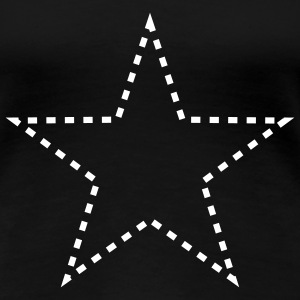 dashed_star_1c T-shirts - T-shirt Premium Femme