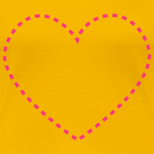 dashed_heart_1c T-shirts - T-shirt Premium Femme