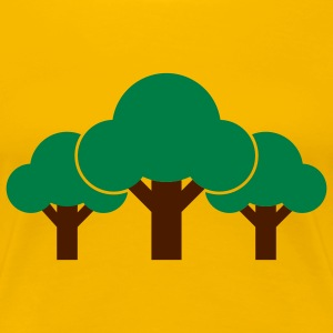 nature_3_trees_2c T-Shirts - Frauen Premium T-Shirt