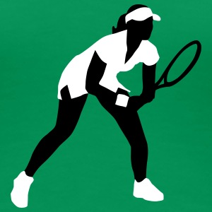 tennis_female_2c T-shirts - Vrouwen Premium T-shirt