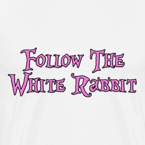 Follow The White Rabbit T-Shirts - Men's Premium T-Shirt