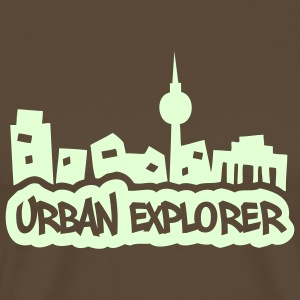 Urban Explorer - glow in the dark - Herre premium T-shirt