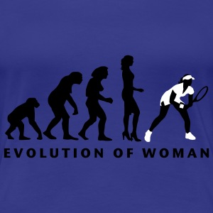 evolution_female_tennis_b_2c T-shirts - Vrouwen Premium T-shirt