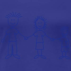 family_dad_and_mom_with_boy_1c T-shirts - Dame premium T-shirt