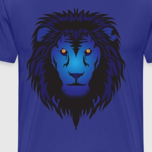 Blue Lion head  T-Shirts - Men's Premium T-Shirt