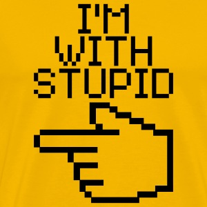 I'm with stupid T-shirts - Mannen Premium T-shirt