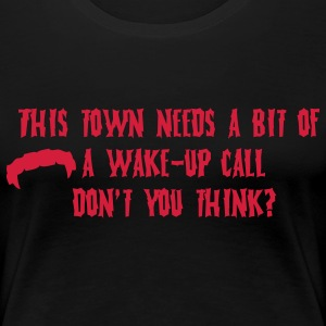 Wake-up Damon Salvatore T-shirts - Vrouwen Premium T-shirt