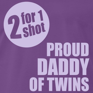 2 for 1 shot T-Shirt - Proud Daddy of Twins - lave - Männer Premium T-Shirt