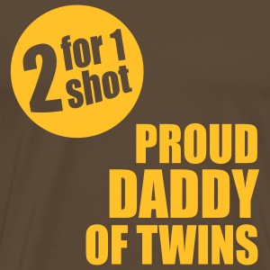 2 for 1 shot T-Shirt - Proud Daddy of Twins - yellow - Men's Premium T-Shirt
