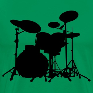 Drums - Percussion - Trummor - Musik - musik - band - musiker - Rock - Instrument - Premium-T-shirt herr