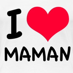 """I love maman"" coeur rouge"