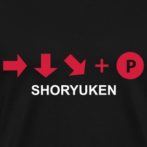 Game t-shirt Shoryuken (Asian Size) - Mannen Premium T-shirt