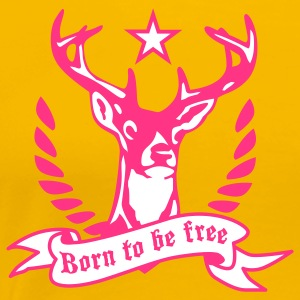 Hirsch - born to be free Frauen Shirt alle Farben - Frauen Premium T-Shirt