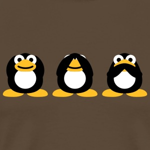 3_penguins_3c T-shirts - Mannen Premium T-shirt