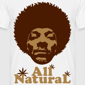 Natural groove marron - T-shirt Homme
