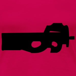gun rifle pistol weapon military m16 T-shirts - Dame premium T-shirt