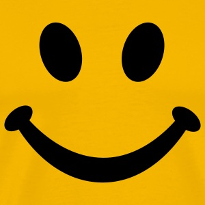 Smiley Smil T-shirts - Herre premium T-shirt