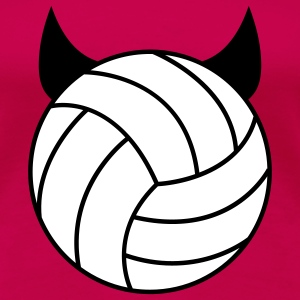Volleyball - Devil T-shirts - Dame premium T-shirt