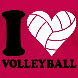I love Volleyball T-shirt - Maglietta Premium da donna