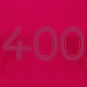 number_four_hundred_1c T-shirts - Dame premium T-shirt