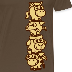 smiley_animal_stake_2c T-shirts - Herre premium T-shirt