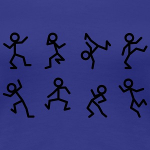 Dancing stick figure T-shirts - Vrouwen Premium T-shirt