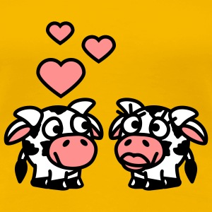 smiley_cows_in_love_3c T-shirts - Premium-T-shirt dam