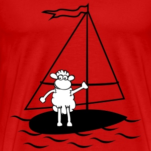 Surfing sheep T-Shirts - Men's Premium T-Shirt