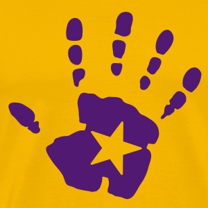 star hand handprint T-Shirts - Men's Premium T-Shirt
