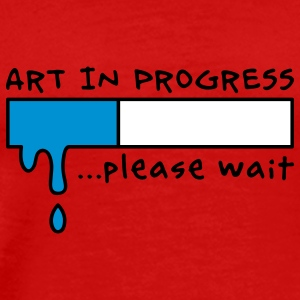 Art in Progress - Loading, please wait T-shirt - Maglietta Premium da uomo
