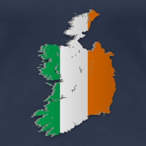 Map of Ireland 2 - Women's Premium T-Shirt