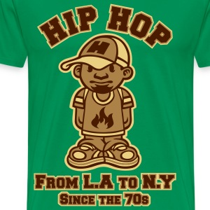 Hip hop tribute marron - T-shirt Premium Homme