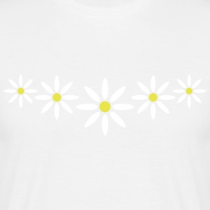 marguerite_flower_pattern_2c T-shirts - Herre-T-shirt