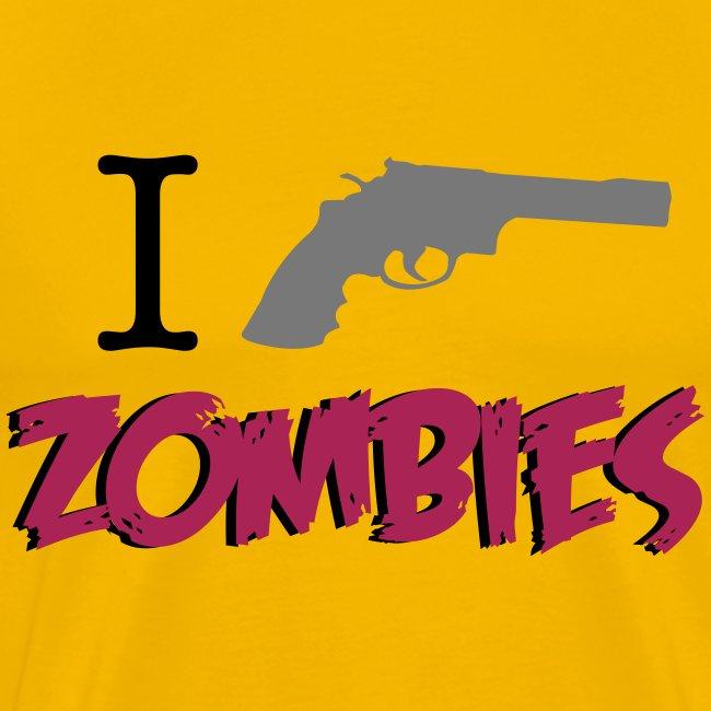 camiseta walking dead - i gun zombies - chico manga corta