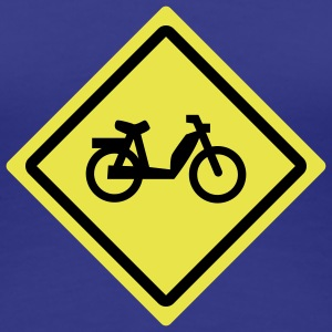 small bike roadsign T-Shirts - Frauen Premium T-Shirt