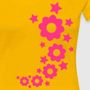 flowers_and_stars_1c T-shirts - T-shirt Premium Femme