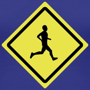 runner roadsign T-Shirts - Frauen Premium T-Shirt