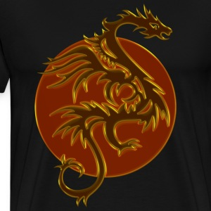 Golden Dragon Sun | XXXL Männershirt - Männer Premium T-Shirt