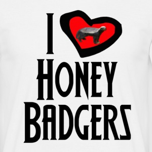 I Love Honey Badgers T-Shirts - Men's T-Shirt