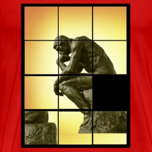 Le penseur The Thinker, decals puzzle game T-Shirts - Men's Premium T-Shirt